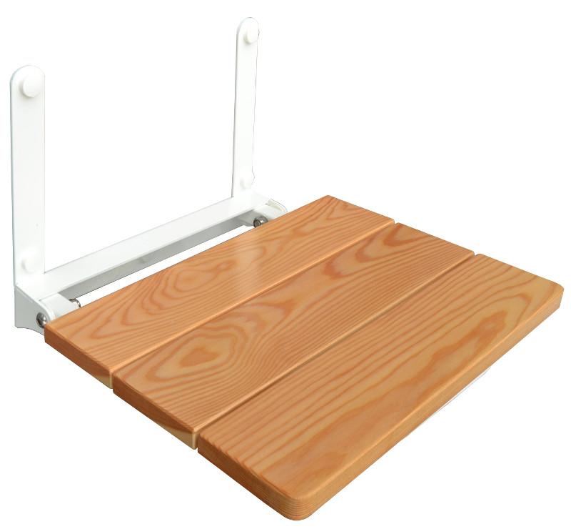 Folding wall mounted shower seat larch TÜV GS Certified - Wall ...