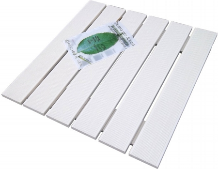 Shower footboard in Ecotech white 49,5x49,5