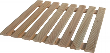 Pine shower footboard 58x58 cm for base 80x80 cm