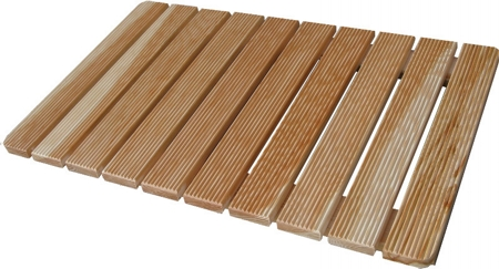 Larch wood footboard screw assembled sustainable PEFC