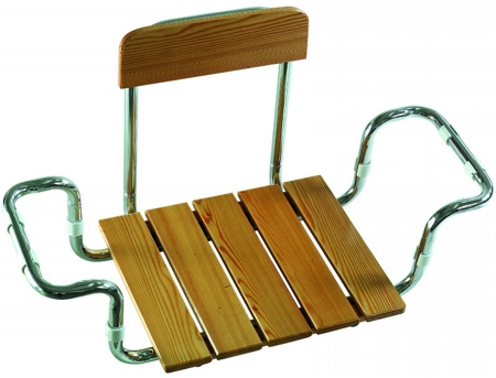 Seat in larch wood with backrest TÜV GS certified