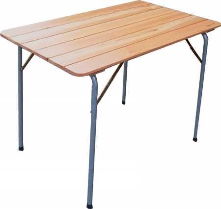 Camping table larch wood 100x60 cm